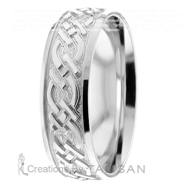 Celtic Knot Wedding Bands.7mm Celtic Knot Wedding Ring